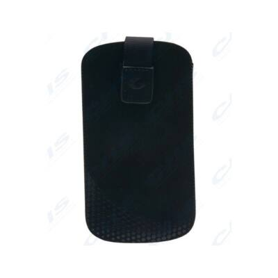 Cellularline Tok, TATTO, mobiltelefon tok, polírozó béléssel, Easy Lift pánt tépőzáras, L méret, fekete