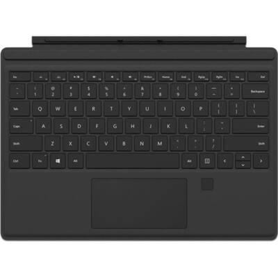 Microsoft Surface Pro 4 Type Cover /fekete ujjlenyomat azonosítóval (Fingerprint ID)