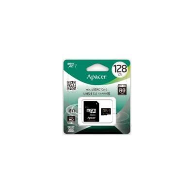 APACER Memóriakártya MicroSDXC 128GB CL10 UHS-I + adapter