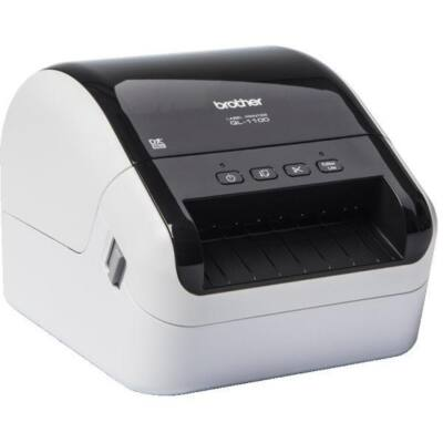 BROTHER Címke nyomtató QL1100YJ1 - DK (max 102 mm széles), 110 mm/s, teljes vágás, USB