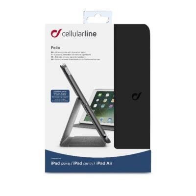 """Cellularline Tok, FOLIO, tablet, kitámasztható, iPad 9,7"""" (2017/2018/iPad Air) fekete"""