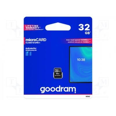 GOODRAM Memóriakártya SDHC 32GB CL10 UHS-I adapter nélkül