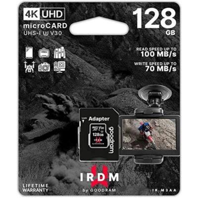 GOODRAM Memóriakártya SDXC 128GB UHS-I U3 V30 + adapter