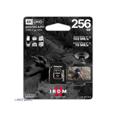 GOODRAM Memóriakártya SDXC 256GB UHS-I U3 V30 + adapter