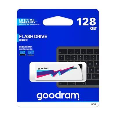 GOODRAM Pendrive 128GB, UCL2 USB 2.0, Fehér