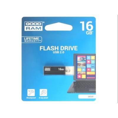 GOODRAM Pendrive 16GB, UCU2 USB 2.0, Fekete
