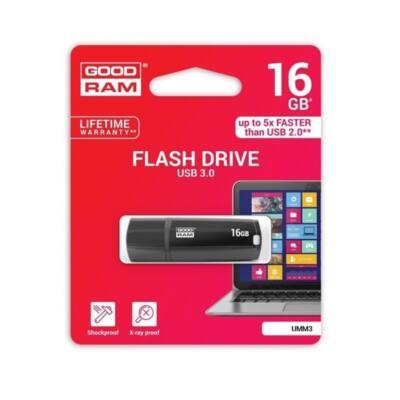 GOODRAM Pendrive 16GB, UMM3 USB 3.0, Fekete