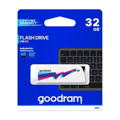 GOODRAM Pendrive 32GB, UCL2 USB 2.0, Fehér