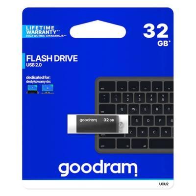 GOODRAM Pendrive 32GB, UCU2 USB 2.0, Fekete