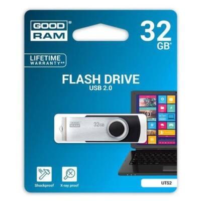 GOODRAM Pendrive 32GB, UTS2 USB 2.0, Fekete