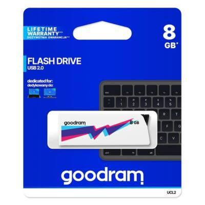 GOODRAM Pendrive 8GB, UCL2 USB 2.0, Fehér