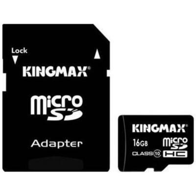 KINGMAX Memóriakártya MicroSDHC Pro 16GB Class 10 UHS1 + adapter