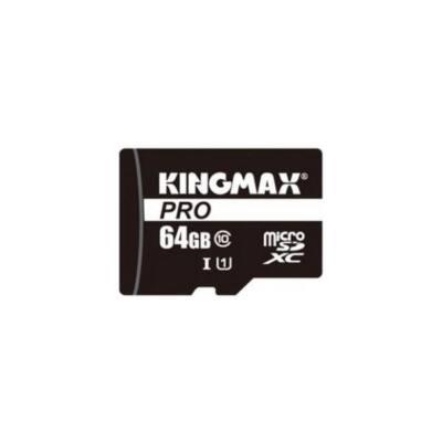 KINGMAX Memóriakártya MicroSDXC Pro 64GB Class 10 UHS1 + adapter