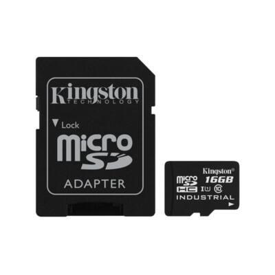 KINGSTON Memóriakártya MicroSDHC 16GB Industrial Temp C10 UHS-I + Adapter