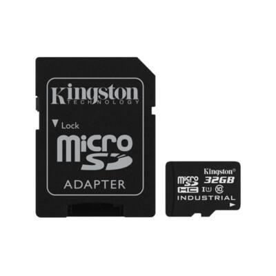 KINGSTON Memóriakártya MicroSDHC 32GB Industrial Temp C10 UHS-I + Adapter