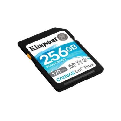 KINGSTON Memóriakártya SDXC 256GB Canvas Go Plus 170R C10 UHS-I U3 V30