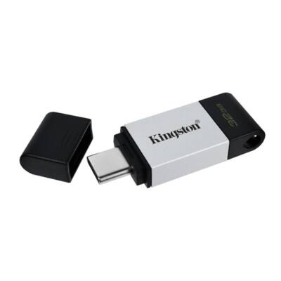 KINGSTON Pendrive 32GB, DT 80 USB-C 3.2 Gen 1 (200 MB/s olvasás)