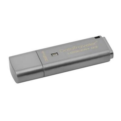 KINGSTON Pendrive 32GB, DT Locker+ G3 USB 3.0, fém, Titkosított (135/40)