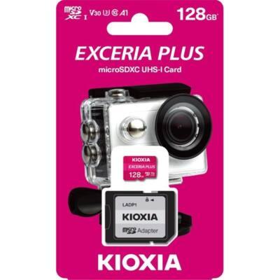 KIOXIA Memóriakártya SDXC 128GB CL10 UHS-I U3 + adapter (TOSHIBA)