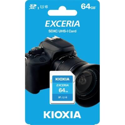 KIOXIA Memóriakártya SDXC 64GB CL10 UHS-I U1 (TOSHIBA)