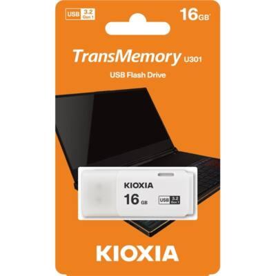 KIOXIA Pendrive 16GB, Hayabusa 3.0, Fehér (TOSHIBA)
