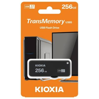 KIOXIA Pendrive 256GB, Hayabusa 3.0, Fekete (TOSHIBA)