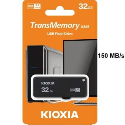 KIOXIA Pendrive 32GB, Hayabusa 3.0, Fekete (TOSHIBA)