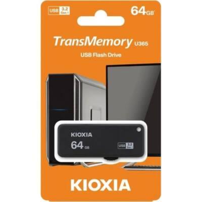 KIOXIA Pendrive 64GB, Hayabusa 3.0, Fekete (TOSHIBA)