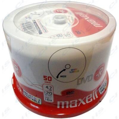 MAXELL DVD lemez -R 4.7GB 50db/Henger 16x Shrink Nyomtatható
