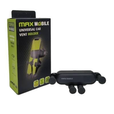"""MAX MOBILE Autós Tartó Gravity E6071 szellőzőrácsra, gravitációs, 6,5""""-ig"""