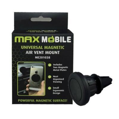 MAX MOBILE Autós Tartó Magnetic IPG1510 szellőzőrácsra, mágneses, fekete