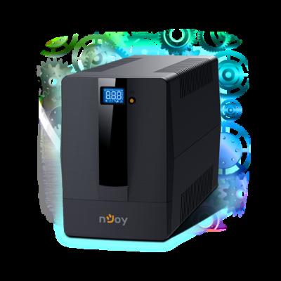 NJOY UPS + AVR Horus Plus 1500, 1500VA, 900W, Line-Interactice, Szünetmentes tápegység, LCD Touch display
