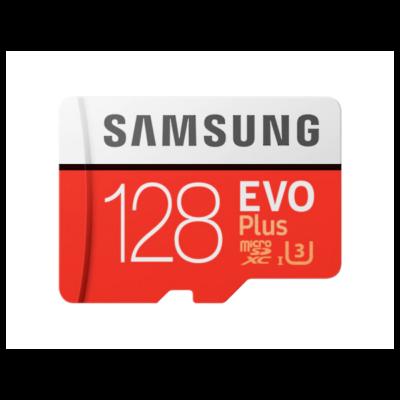 SAMSUNG Memóriakártya MicroSDHC 128GB EVOPLUS CLASS 10, UHS-1 Grade1, + Adapter, R100/W60