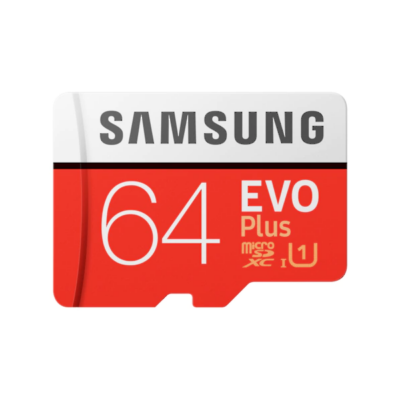 SAMSUNG Memóriakártya MicroSDHC 64GB EVOPLUS CLASS 10, UHS-1 Grade1, + Adapter, R100/W20