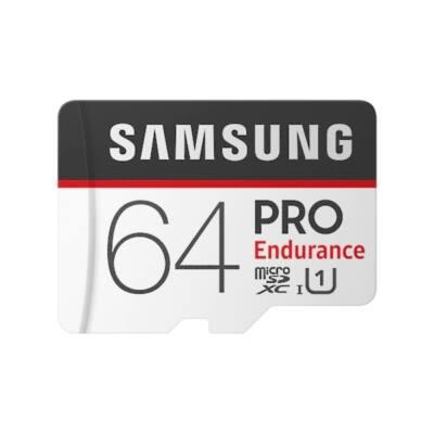 SAMSUNG Memóriakártya MicroSDHC 64GB PROEndurance CLASS 10, UHS-1 Grade1, + Adapter, R100/W30