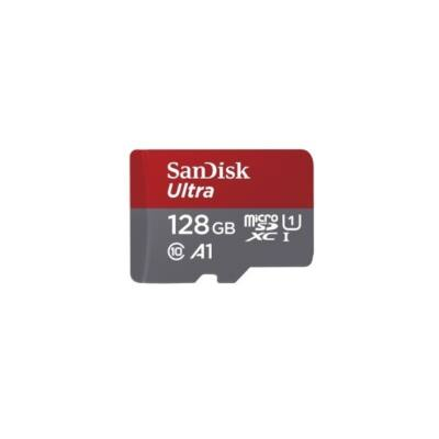 SANDISK MICROSD ULTRA ANDROID KÁRTYA 128GB, 120MB/s,  A1, Class 10, UHS-I