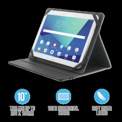 """TRUST Összehajtható védőtok és állvány 10""""-os táblagépekhez 20058, Primo Folio Case with Stand for 10"""" tablets - black"""