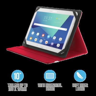 """TRUST Összehajtható védőtok és állvány 10""""-os táblagépekhez 20316, Primo Folio Case with Stand for 10"""" tablets - red"""