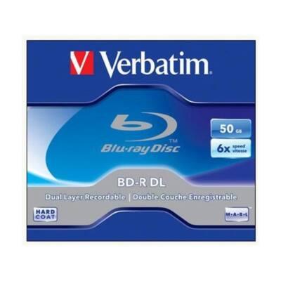 VERBATIM BD-R BluRay lemez, kétrétegű, 50GB, 6x, normál tok