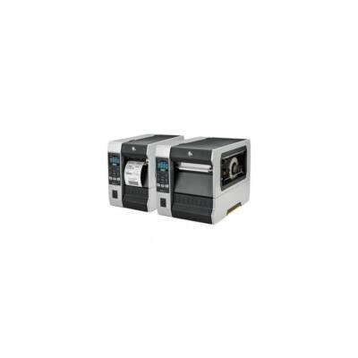 Zebra cimkenyomtató, ZT610, (600 dpi), TT, cimke leválasztó, vissza csévélő, kijelző (colour), ZPL, ZPLII, USB, RS232, B